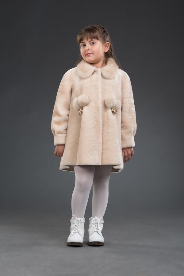 Лиза, детская шубка из мутона, арт. № 500-8210