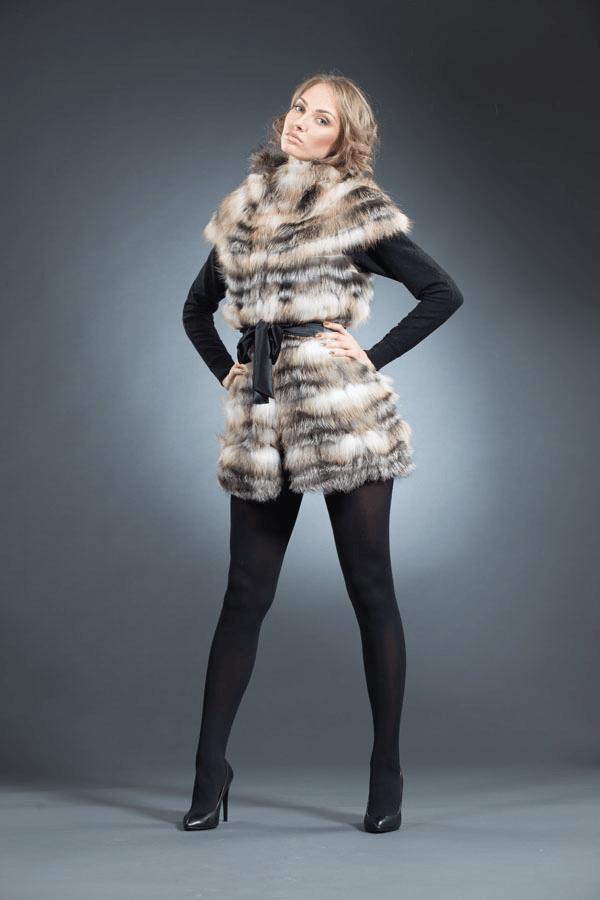 Марина жилет лиса арт № 700-2003 жилет из натурального меха
