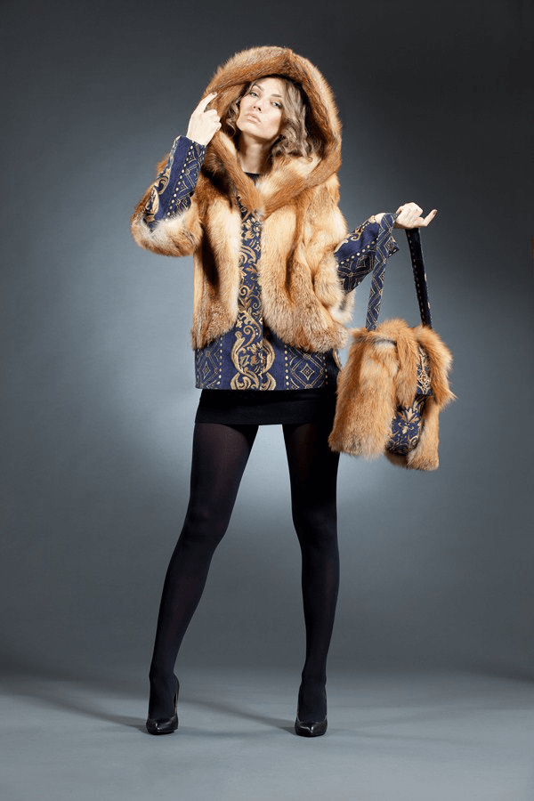 Натали габелен куртка лиса арт № 300-601 меховое изделие из лисы огнёвки