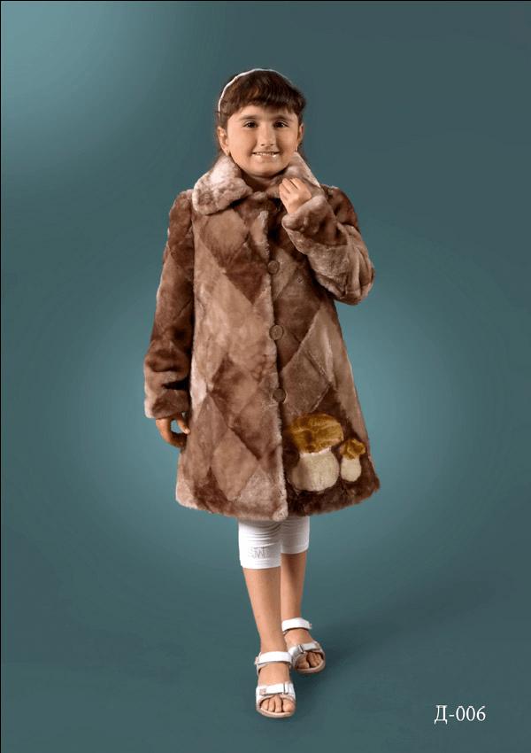 ДТ- 6 Детская шубка из мутона