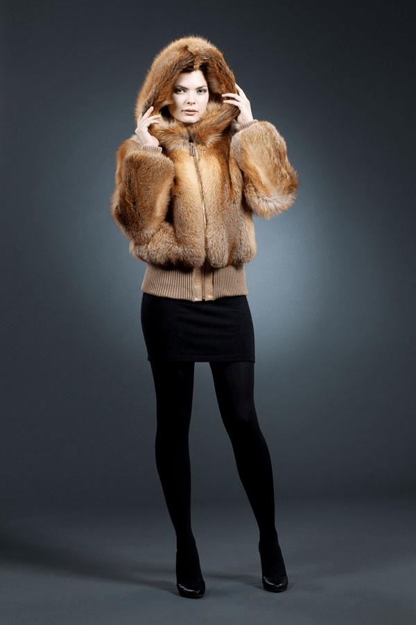 Подвяз трикотаж, куртка из лисы арт № 300-201  меховое изделие из лисы